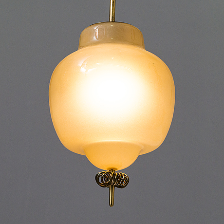 Paavo tynell, a mid-20th-century pendant ceiling light, model '1094', for taito, finland.