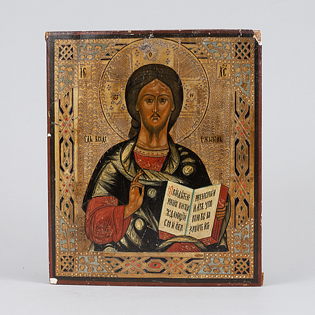 A russian icon, 19/20th century.