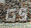 A signed swedish flat weave carpet ca 194 x 138 cm.