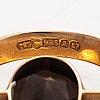 Elis kauppi, a 14k gold brooch with a smoaky quartz. kupittaan kulta, turku 1987.