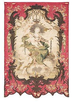 266. A European 18th century procession banner, ca 203 x 137 cm.