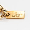 Gucci, a pair of earrings and a necklace made of 18k gold. marked gucci, made in italy.