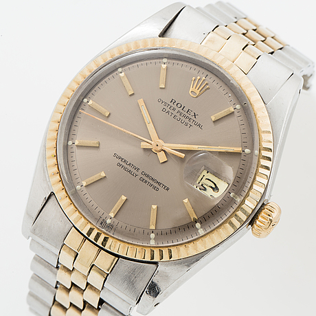 Rolex, oyster perpetual, datejust, wristwatch, 36 mm.