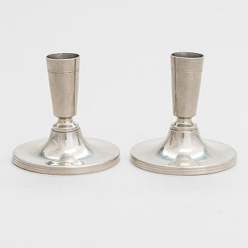 Paavo Tynell,  a pair of candlesticks, Taito/Idman 1938.