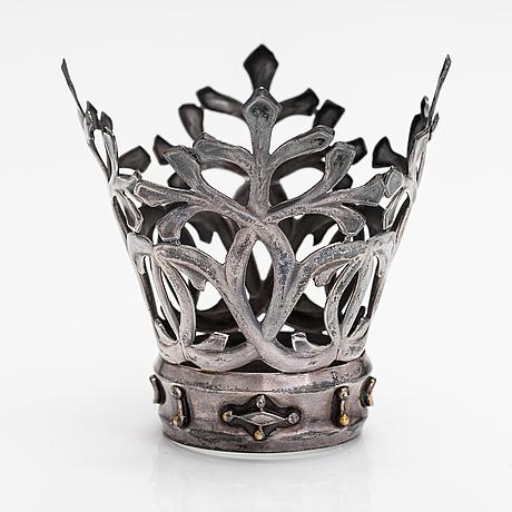 "Germund paaer, a silver plated brass wedding crown ""jäkäläkruunu"". kalevala koru, helsinki 1940's-1950's."