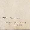 """Yayoi kusama, """"the woman""""."""