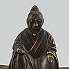 A chinese bronze sculpture, 20th century.
