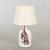 A holmegaard table lamp late 20th century.