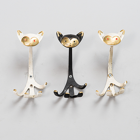 Three clothes hangers by walter bosse from second half of the 20th century,