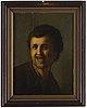 Rembrandt harmensz van rijn, kopia efter. osignerad. förstärkt pannå 41,5 x 30 cm.