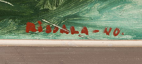 Kaapo rissala, olja på duk, signerad och daterad -40.