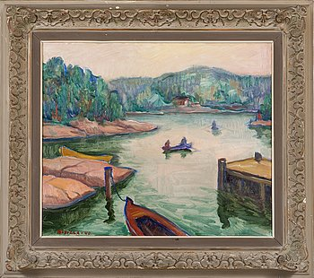 Kaapo Rissala, oil on canvas, signed and dated -40.