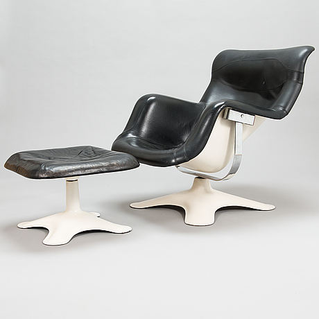 Yrjö kukkapuro,  a late 1960's 'carousel' armchair and ottoman for haimi finland.