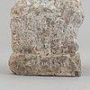 Sven lundqvist, stone sculpture, signed.