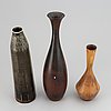 Carl-harry stålhane, a set of three stoneware vases, 1950/60s.