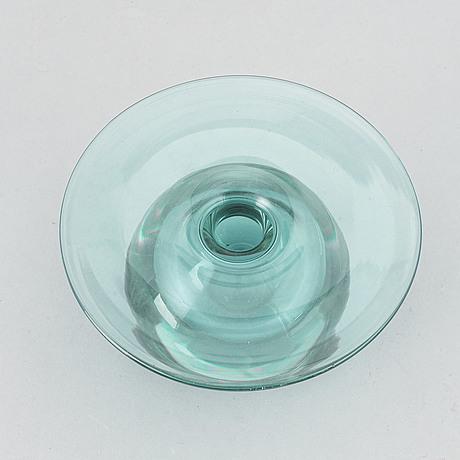 A signed 'saturn' glass vase by nanny still, riihimäen lasi oy, finland.
