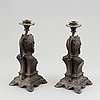 A pair of candelsticks, second half of the 19th century.