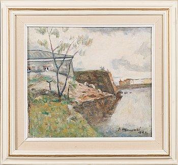 Janne Muusari, oil on canvas, signed and dated 1964.