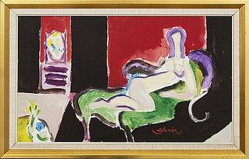 Roland K Nilssson, oil on canvas signed.