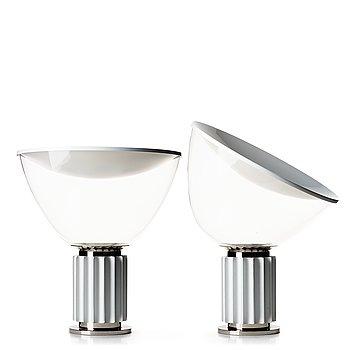"""80. Achille Castiglioni, & Pier Giacomo Castiglioni, a pair of table lamps, """"Taccia"""", for Flos, Italy post 1962."""