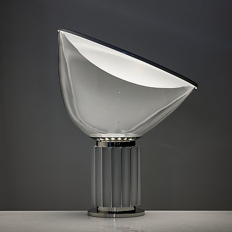 """Achille castiglioni, & pier giacomo castiglioni, a pair of table lamps, """"taccia"""", for flos, italy post 1962."""