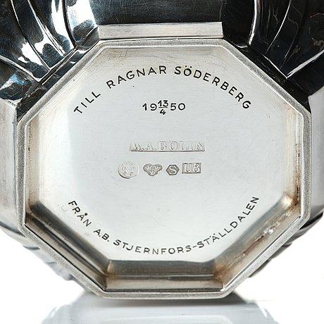 W.a. bolin, vas, stockholm 1946, silver.