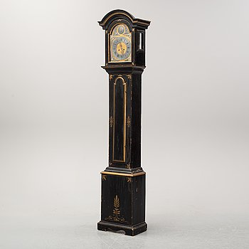 A Swedish longcase clock, second half of the 18th century.