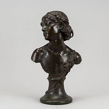 Paul de Vigne, after. Sculpture. Signed and dated 1877. Bronze, height 65 cm.