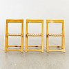 A set of six folding chairs by aldo jacober for bazzani italy 1970's.