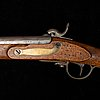 A percussion rifle 1845-54 pattern, with bayonet.