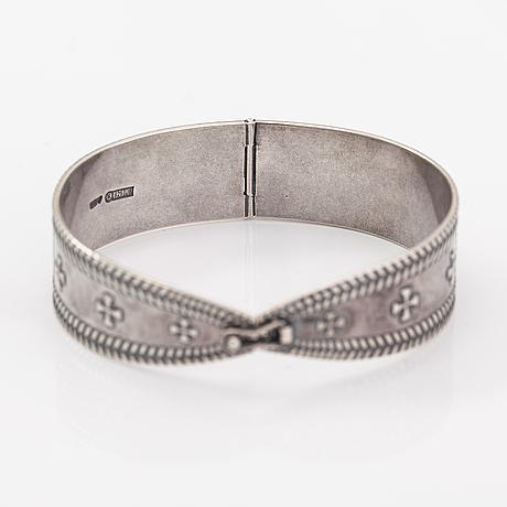 A sterling silver bracelet, model 208. kalevala koru, helsinki 1997.