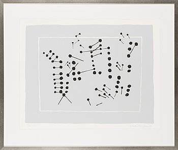Ernst Mether-Borgström, silkscreen, signed and dated -70, numbered 54/90.