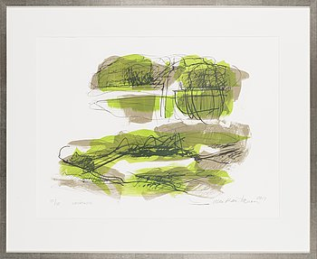 Ulla Rantanen, litograph, signed and dated 2014, numbered 35/75.