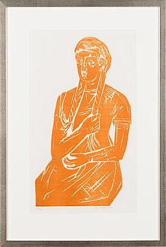 Ina Colliander, woodcut, signed and numbered 36/100.