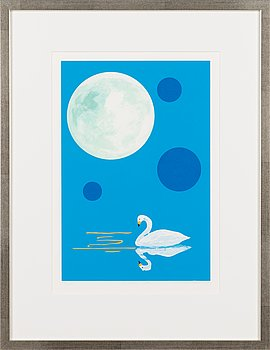 Risto Suomi, silkscreen, signed and dated 2016, numbered 19/75.