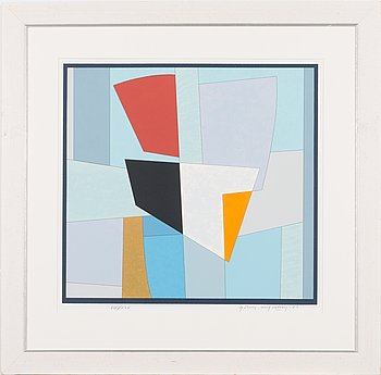 Göran Augustson, serigraph, signed and dated -87, numbered VIII/XXV.