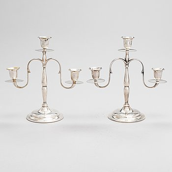 Paavo Tynell, a pair of '8005' 1920/30's candelabrum for Taito.