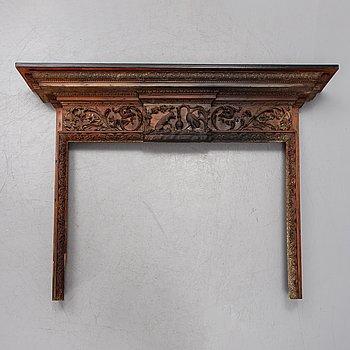 A 19th century mantlepiece.