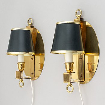 A pair of wall lights, Boréns, second half 1900's.