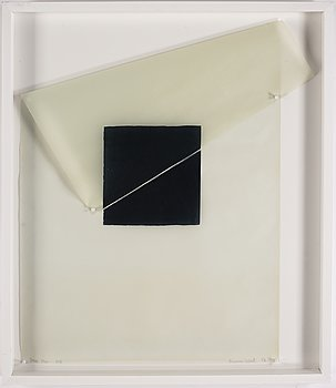 Susan Weil, mixed media on greaseproof paper, 1976, signed 1/3.