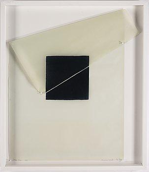 Susan Weil, blandteknik på smörpapper, 1976, signerad 1/3.