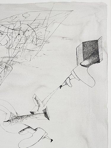 Renato ranaldi, signerad och daterad 1985. tusch.