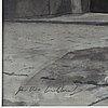 Per-ivar lindekrantz, watercolour and pencil, signed.