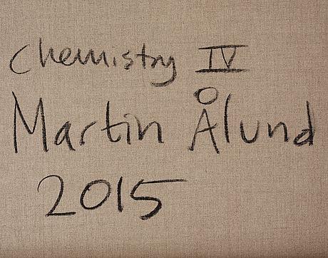 Martin ålund, signerad och daterad 2015 a tergo. akryl på duk.