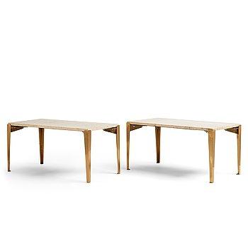 370. Josef Frank, a pair of 'model 1053' side tables, Svenskt Tenn, Sweden.