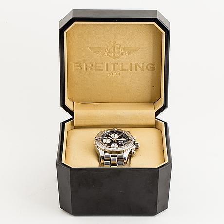 Breitling, chrono superocean (500m/1650ft), chronometre, chronograph, wristwatch, 42 mm.