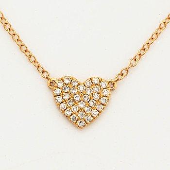 Heart shaped diamond necklace.