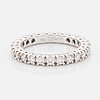 Brilliant-cut diamond eternity ring, with certificate hrd.