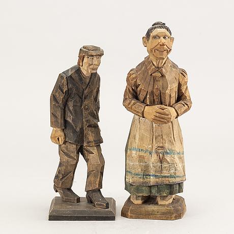 Carl olof trygg och carl johan trygg, probably, 2 sculptures.