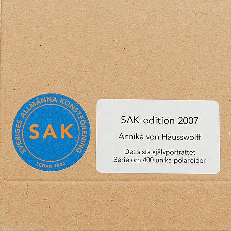 Annika von hausswolff, signed and dated polariod.
